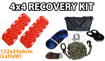 Offroad Recovery kit (Treads, Snatch Strap, Shackle, Drag Chains)