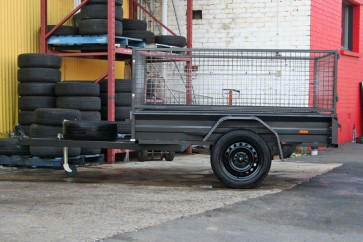 7X5 Heavy duty caged trailer