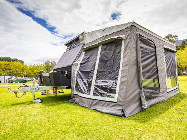 Awesome Where The Tremor Really Steps Above Other Offroad Camping Trailers Is In Its Impressive Level Of Amenities And Mod Cons This Is Far From A Barebones Mattressandgalley Caravan The Kitchen Is Loaded With A Fourburner Range And Oven That