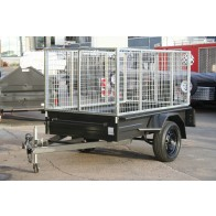 7x4 Commercial Box Trailer with 900mm Galvanised Trailer Cage, Box Chassis