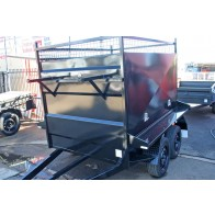 7x 5 Tandem Axle Barn Door Tradesman Trailer - 2 Tonne GVM, Electric brakes