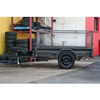 7x5 Commercial Box Trailer with 600mm Mesh Trailer Cage, Box Chassis
