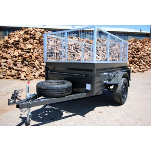 7X4 Heavy duty caged trailer