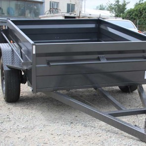 7x5 Commercial Box Trailer with High 500mm Sides, Box Chassis, 5 Leaf springs