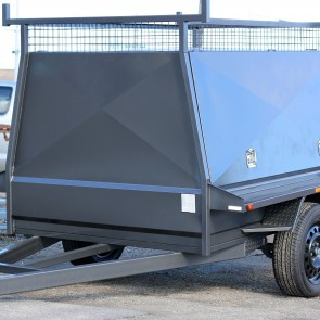 7x5 Tapered Tradesman Trailer -  Mechanical Override Brakes 1350 GVM
