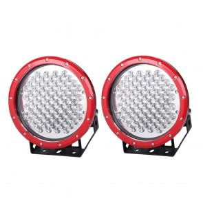 MYTCA 9 Inch Cree LED Driving Light X2 RED Spotlight Offroad 4WD 4X4 PAIR