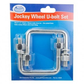 Ark Jockey Wheel U Bolt Set - Swivel, 75 x 50mm