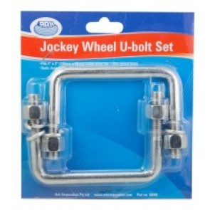 Ark Jockey Wheel U Bolt Set - Swivel, 100 x 50mm