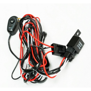Heavy Duty LED Light Bar Wiring Loom Harness (40A Switch, Relay kit, 12v)
