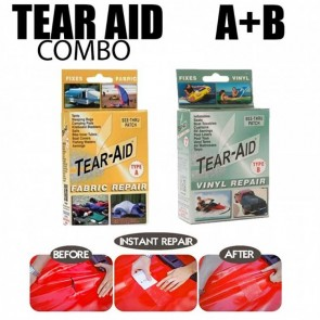 Tear Aid Type A & Type B Combo Kit Fabric & Vinyl Instant repair patch kit