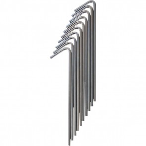 Zinc Tent Peg 10 Pack - 6.3mm x 225mm