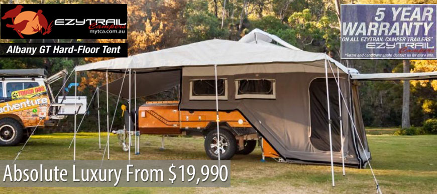 K-Series Albany GT Rear Fold Camper Trailer by Ezytrail
