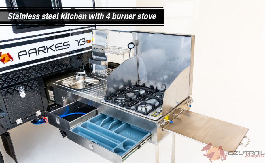 Parkes 13 Kitchen with 4 burner stove
