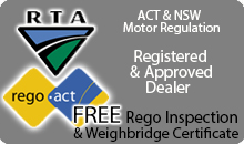 ACT & NSW Rego Authorised Dealers