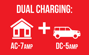 ac dc battery charger dual charging house to vehicle