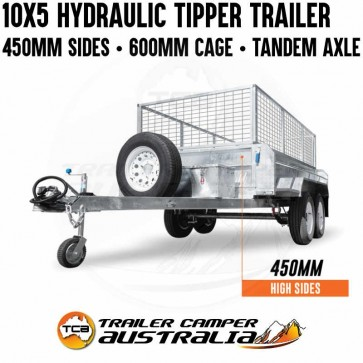 10x5 Galvanised Hydraulic Tipper Trailer