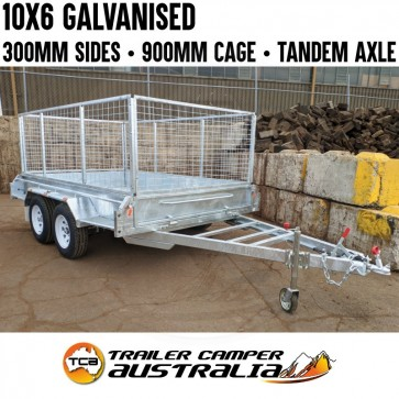 10x6 Galvanised Heavy Duty Tandem Trailer