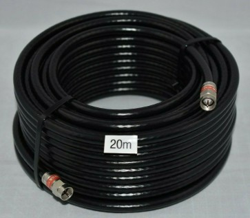 20m Quad Shield RG6 Cable with connectors