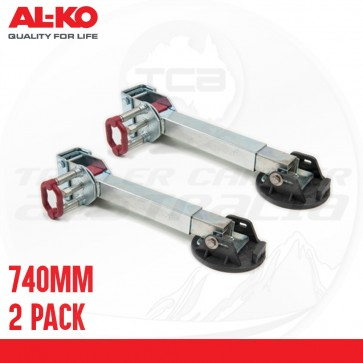 2 X ALKO 740mm Drop Down Stabiliser Leg