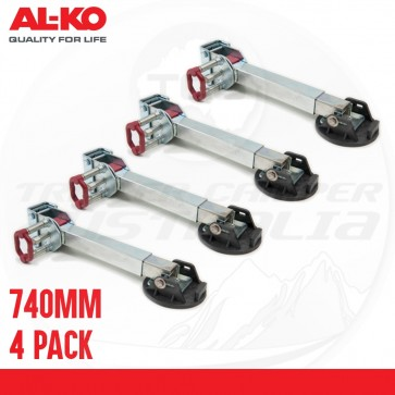 4 X ALKO 740mm Drop Down Stabiliser Leg