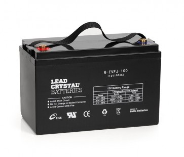 Lead Crystal 6-EVFJ-100 Deep Cycle Battery