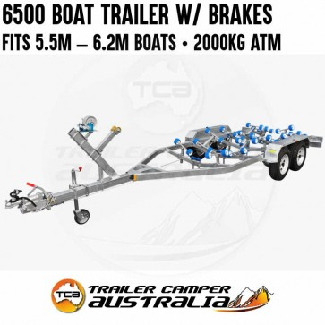 6500 Tandem Boat Trailer with Brakes