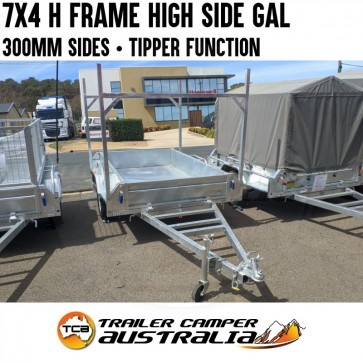 7x4 Low Side with H Frames Galvanised Box Trailer