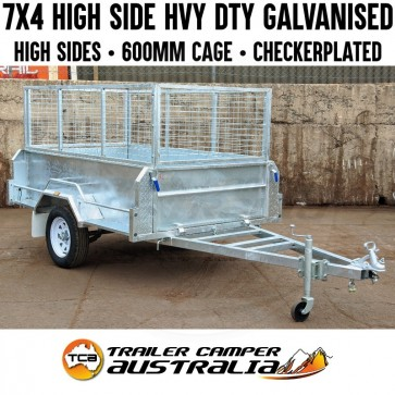 7x4 Heavy Duty Off Road Galvanised Box Trailer