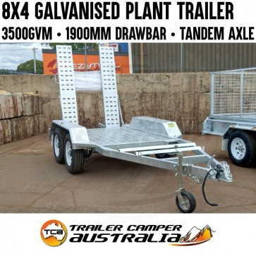 8x4 Galvanised Tandem Axle Plant Trailer