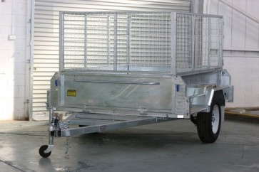 7x5 galvanised box trailer with 900mm cage