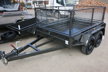 8x5 Tandem Trailer with 600mm Cage 2 Tonne GVM