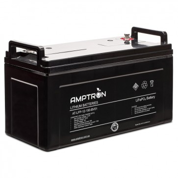 Amptron 150Ah 12V Lithium Iron LiFePO4 Battery 175A BMS Prismatic Cell Balancing