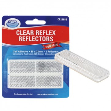 2x Ark Clear self adhesive reflector 22 x 85mm