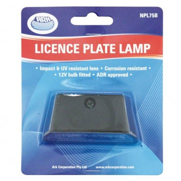 Ark 12v License Plate Lamp With Globe