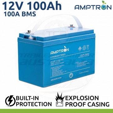 Amptron 100Ah 12V Lithium LiFePO4 Battery