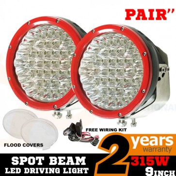 2X 9inch 315w CREE LED Driving Light Spot