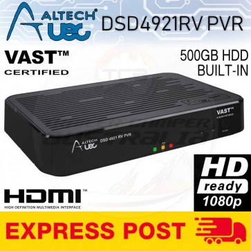 Altech Uec DSD4921RV 500GB HDD Vast Satellite Receiver PVR