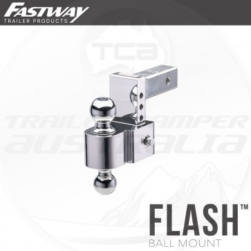 "Fastway 4"" Flash E Series Adjustable Hitch Mount 50mm & 70mm Tow Ball"