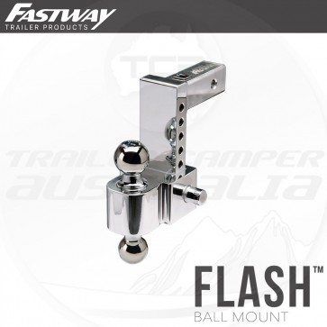 """Fastway 6"""" Flash E Series Adjustable Hitch Mount 50mm & 70mm Tow Ball"""