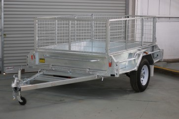 MYTCA 7x5 Galvanised Box Trailer Tipper 300mm sides