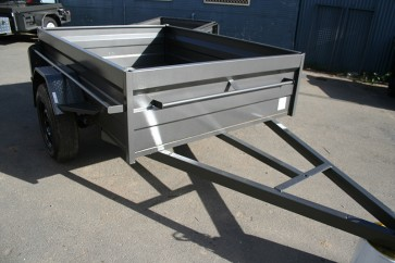 6x4 Heavy Duty Box trailer with 500mm sides Front
