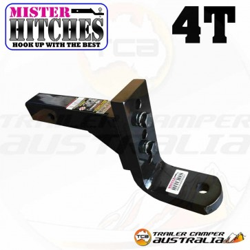 MISTER HITCHES 4T Extra Heavy Duty Adjustable Ball Mount 12 STAGE