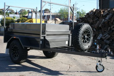 7x4 Off Road Lidded Trailer with H-Frames