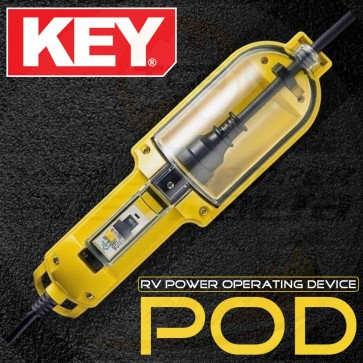 KEY POD - RV Power Operating Device 15A to 10A Weatherproof Adapter