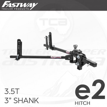 """Fastway E2 Trunnion Sway Control WDH Weight Distribution Hitch 3.5T 3"""" Shank"""