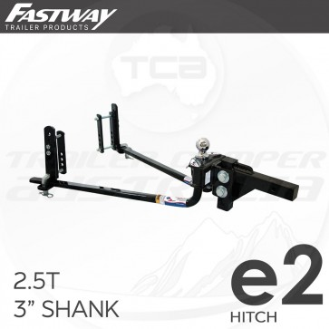 """Fastway E2 Round Bar Sway Control WDH Weight Distribution Hitch 2.5T 3"""" Shank"""