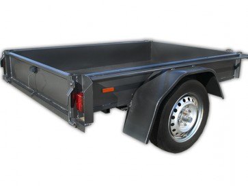 6x4 Basic Box Trailer with 250mm sides, 3 leaf springs