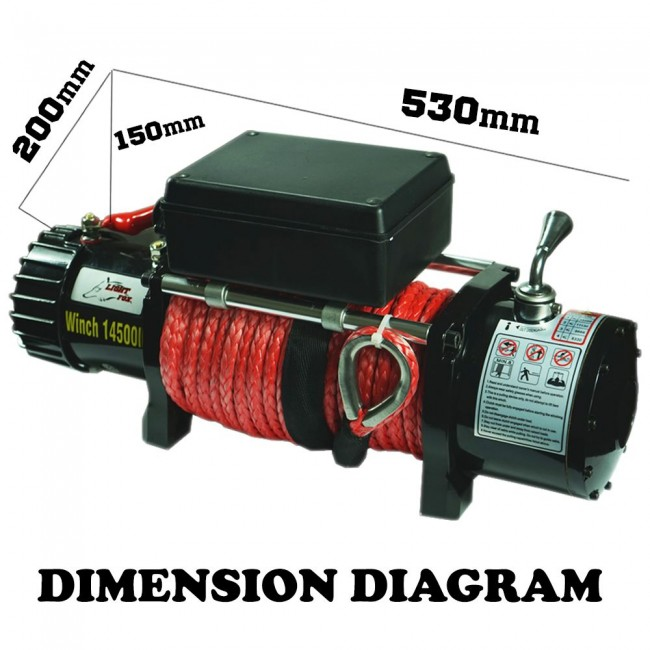 Remote Starter Installation Cost >> MYTCA 14500 LBS 26M Electric 12V Winch Synthetic Rope ...