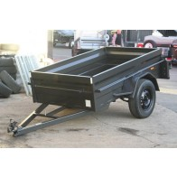 7x4 Heavy Duty Box Trailer with High 500mm Sides, Flat Steel Floor, 5 Leaf springs