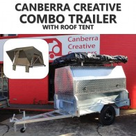 Canberra Creative Combo Trailer with Dometic Camper Roof Tent